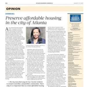 Preserve affordable housing in the city of Atlanta