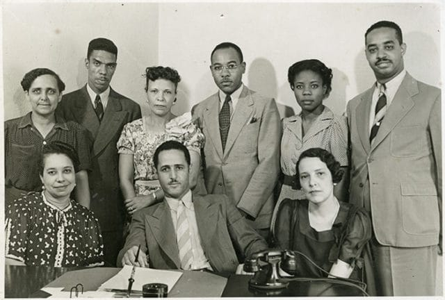 Photo of 1937 office staff at University-John Hope Homes