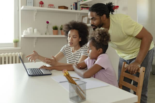 Family researching online